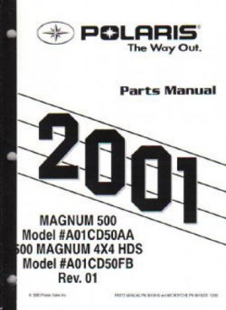 2001 Polaris Magnum 325 4X4 Parts Manual