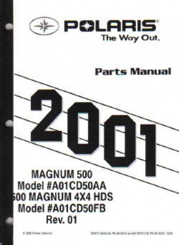 2001 Polaris Magnum 500 4×4 Parts Manual