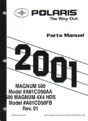 2001 Polaris Magnum 500 4×4 Parts Manual