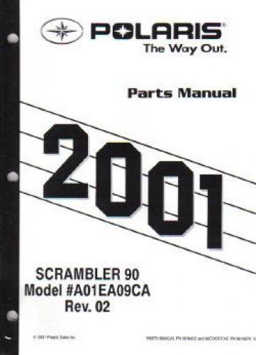 2001 Polaris Scrambler 90 Parts Manual