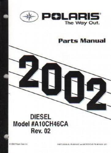 2001 Polaris Diesel 455 4X4 Series 10 Parts Manual