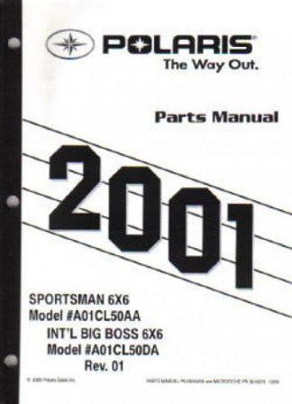 2001 Polaris Sportsman 500 6×6 Parts Manual