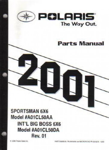 2001 Polaris Sportsman 500 6×6 Parts Manual