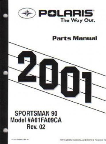 2001 Polaris Sportsman 90 Parts Manual