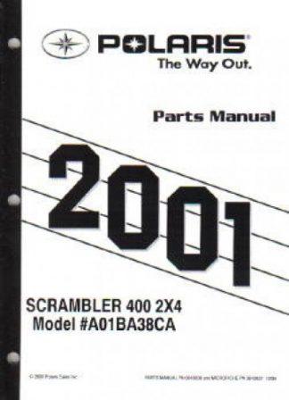 2001 Polaris Scrambler 400 2×4 Parts Manual