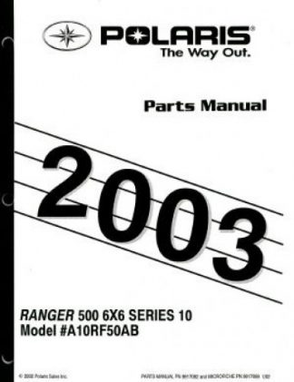 2001-2002 Polaris Ranger Series 10 Side by Side Service Manual