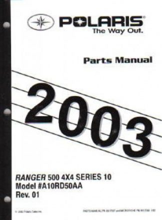 2004 Polaris SCRAMBLER 500 Parts Manual
