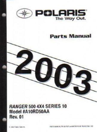 2003 Polaris Ranger Series 10 4×4 Parts Manual