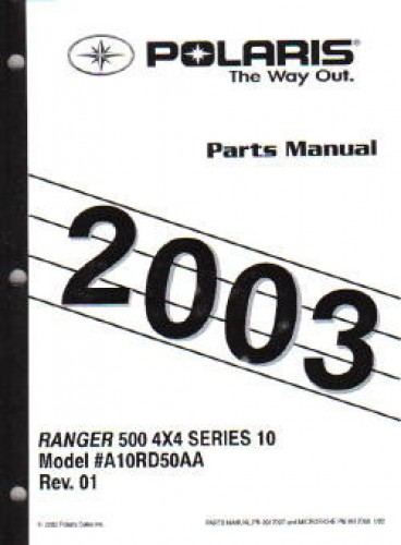 2003 Polaris Ranger Series 10 4×4 Parts Manual