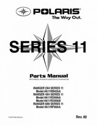 Polaris RANGER 2×4 4×4 6×6 Series 11 Parts Manual