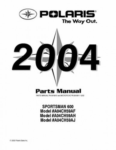 2004 Polaris SPORTSMAN 600 Parts Manual