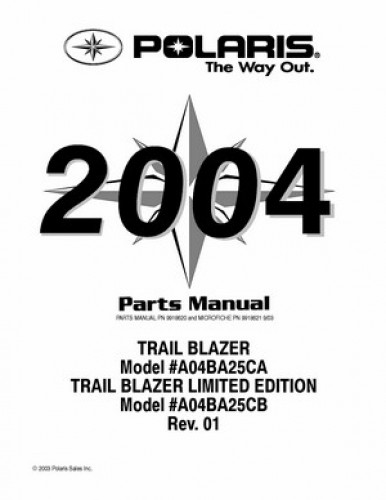 2004 Polaris TRAIL BLAZER 250 Parts Manual