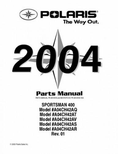 2004 Polaris SCRAMBLER 400 Parts Manual