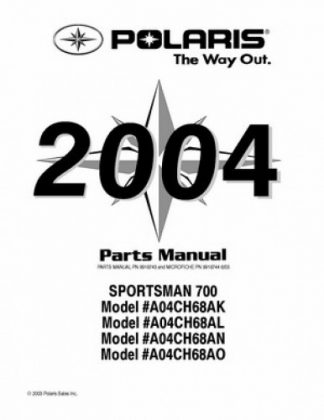 2004 Polaris SPORTSMAN 90 Parts Manual