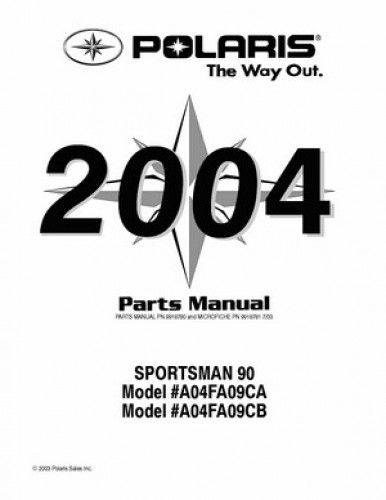 2004 Polaris SPORTSMAN 90 Parts Manual