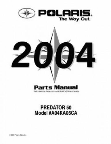 2004 Polaris PREDATOR 50 Parts Manual