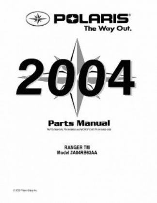 2004 Polaris RANGER TM Parts Manual