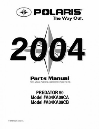 2004 Polaris PREDATOR 90 Parts Manual