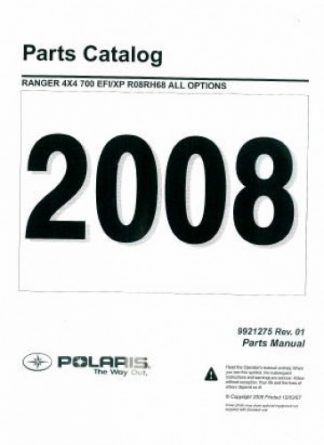 2008 Polaris Ranger 4X4 700 EFI Crew Parts Manual
