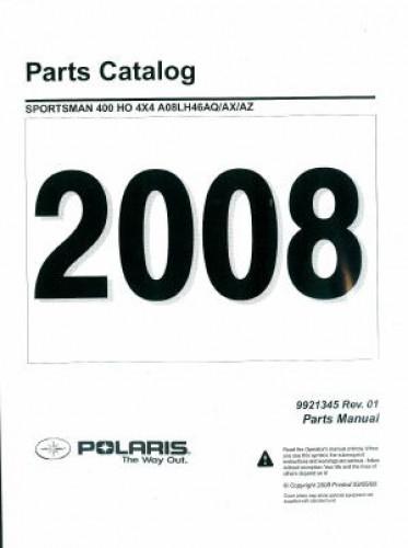2008 Polaris Sportsman 400 HO 4X4 Parts Manual