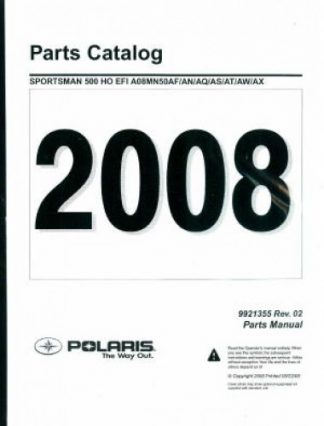 2008 Polaris Sportsman 400 HO 4X4 Parts Manual
