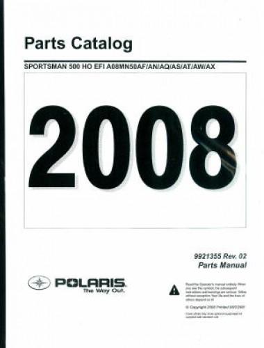 2008 Polaris Sportsman 500 EFI Parts Manual