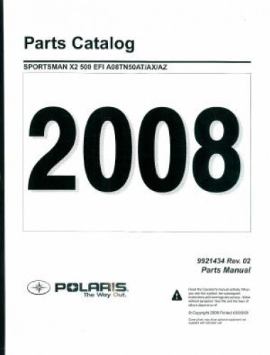 2008 Polaris Sportsman X2 500 EFI Parts Manual