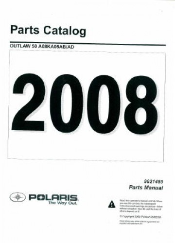 2008 Polaris Outlaw 50 Parts Manual