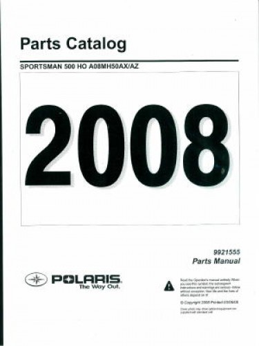 2008 Polaris Sportsman 500 HO Parts Manual