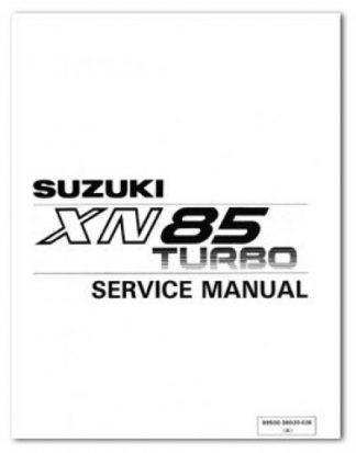 1983 Suzuki XN85D Turbo Printed Motorcycle Service Manual