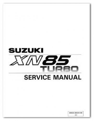 Used 1983 Suzuki XN85D Turbo Service Manual