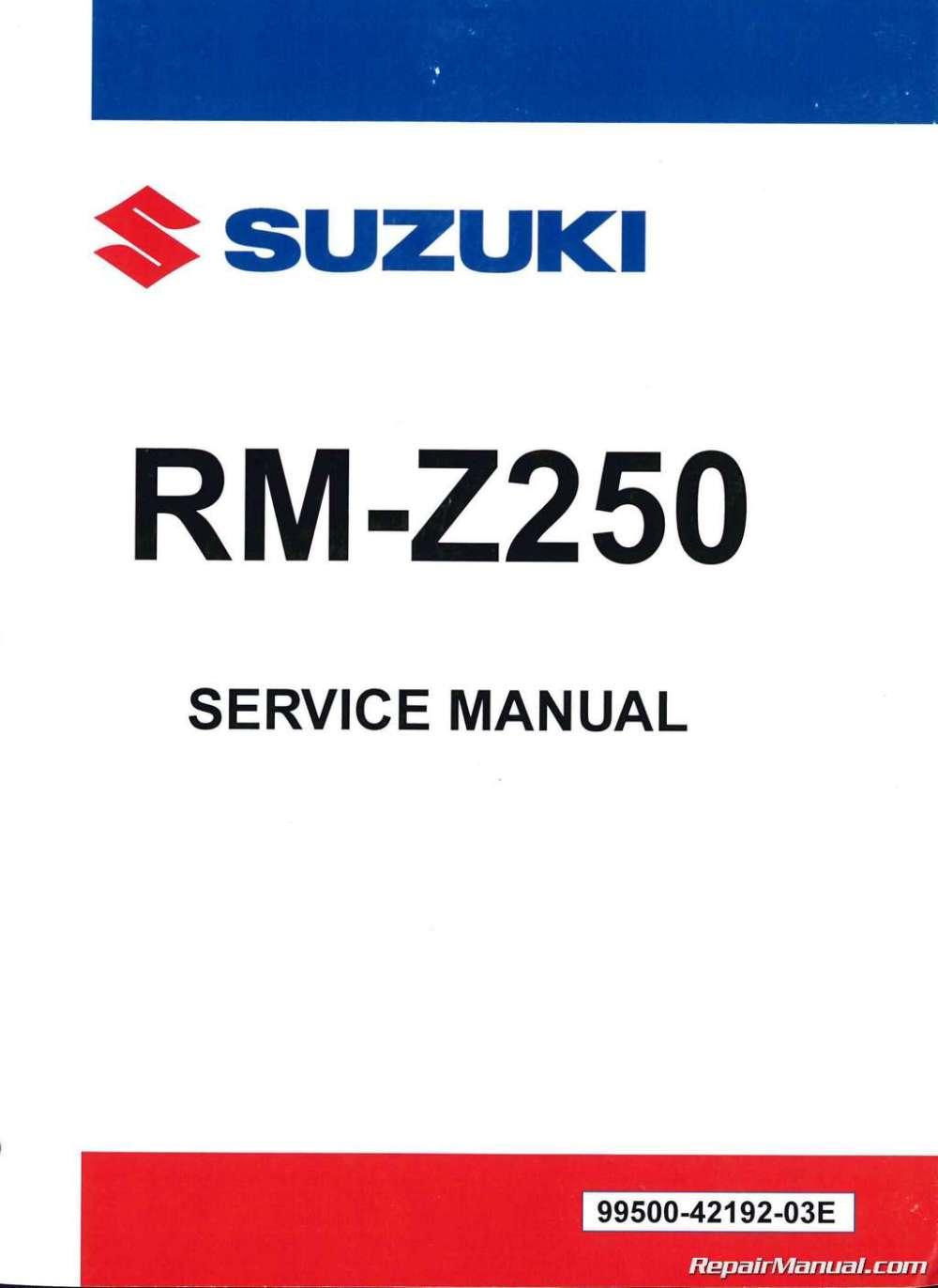 medium resolution of 2012 2014 suzuki rm z250 service manual