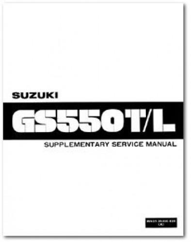 Used 1981 Suzuki GS550TX LX LZ Service Manual Supplement