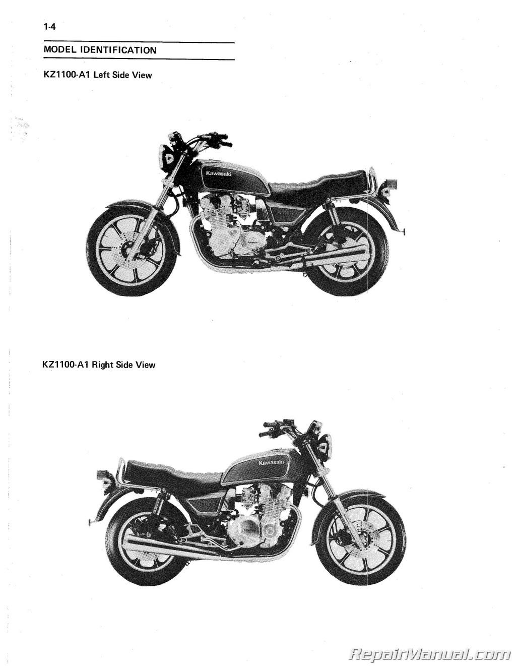 hight resolution of kawasaki 1981 1983 kz1100 1984 1985 zn1100 shaft drive motorcycle service manual
