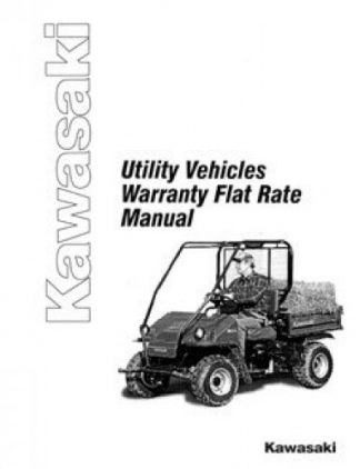 Kawasaki Utility Vehicles Warranty Flat Rate Manual