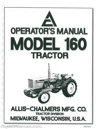 Allis Chalmers 160 Diesel Operators Manual