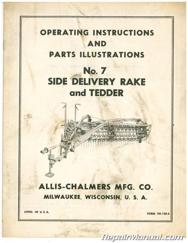 Used Allis-Chalmers No. 7 SIDE DELIVERY RAKE TEDDER