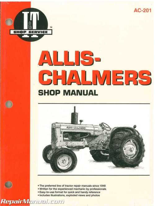 small resolution of allis chalmers 160 170 175 d 10 series iii d 12 series iii d