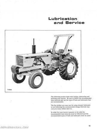 Allis Chalmers 175 Gas And Diesel Operators Manual