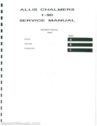 Allis Chalmers 190 190XT 190 Series III GD Service Manual