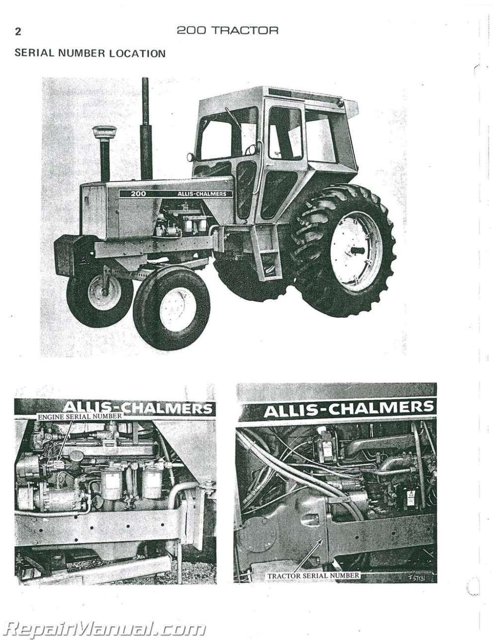 medium resolution of allis chalmers 200 diesel parts manual allis chalmers 200 wiring diagram