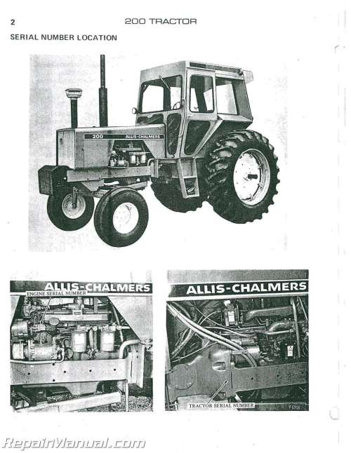 small resolution of allis chalmers 200 diesel parts manual allis chalmers 200 wiring diagram