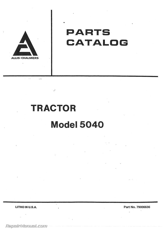 Allis Chalmers 5040 Parts Manual