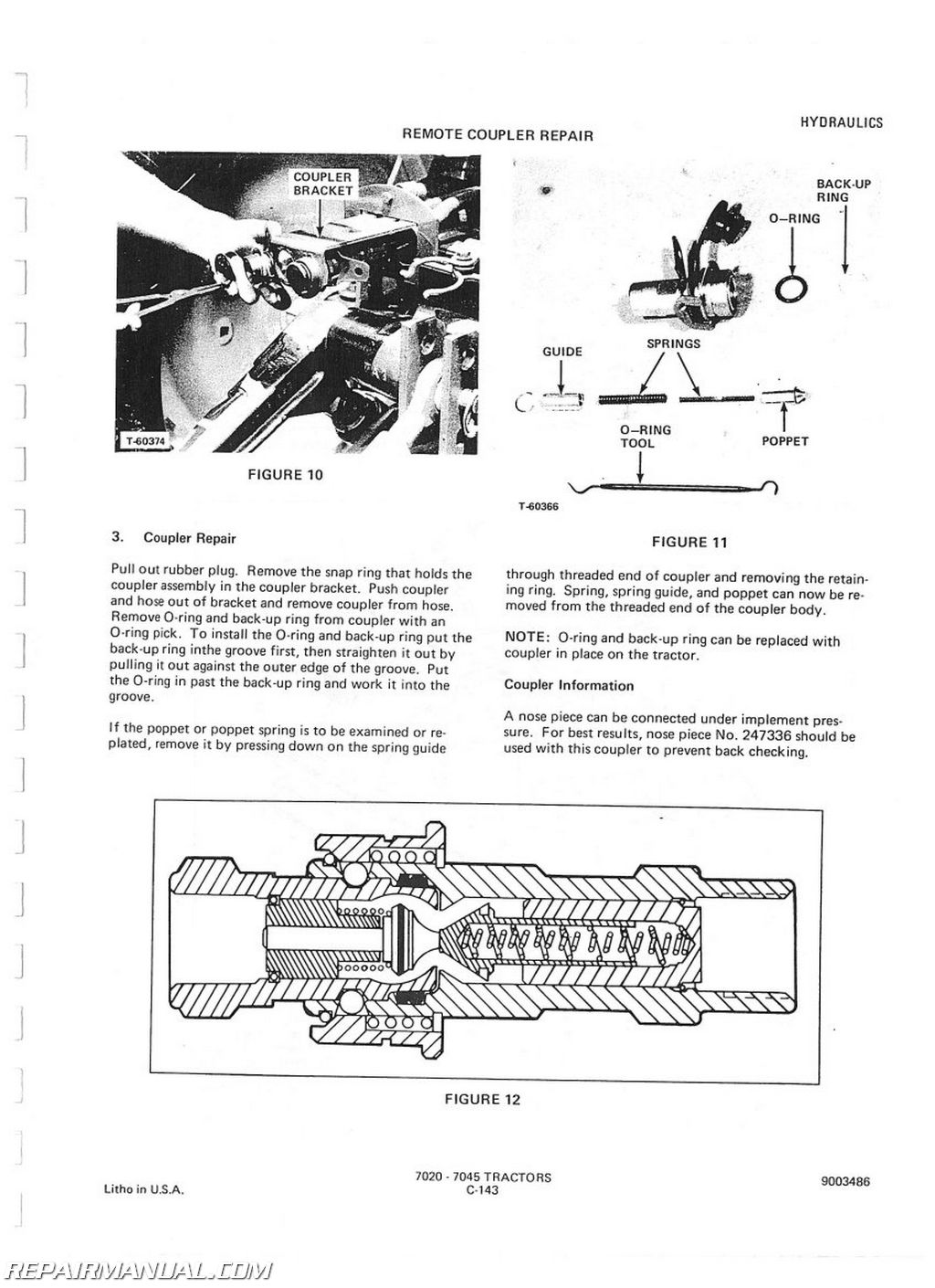 Allis-Chalmers 7010 7020 7045 DSL Service Manual