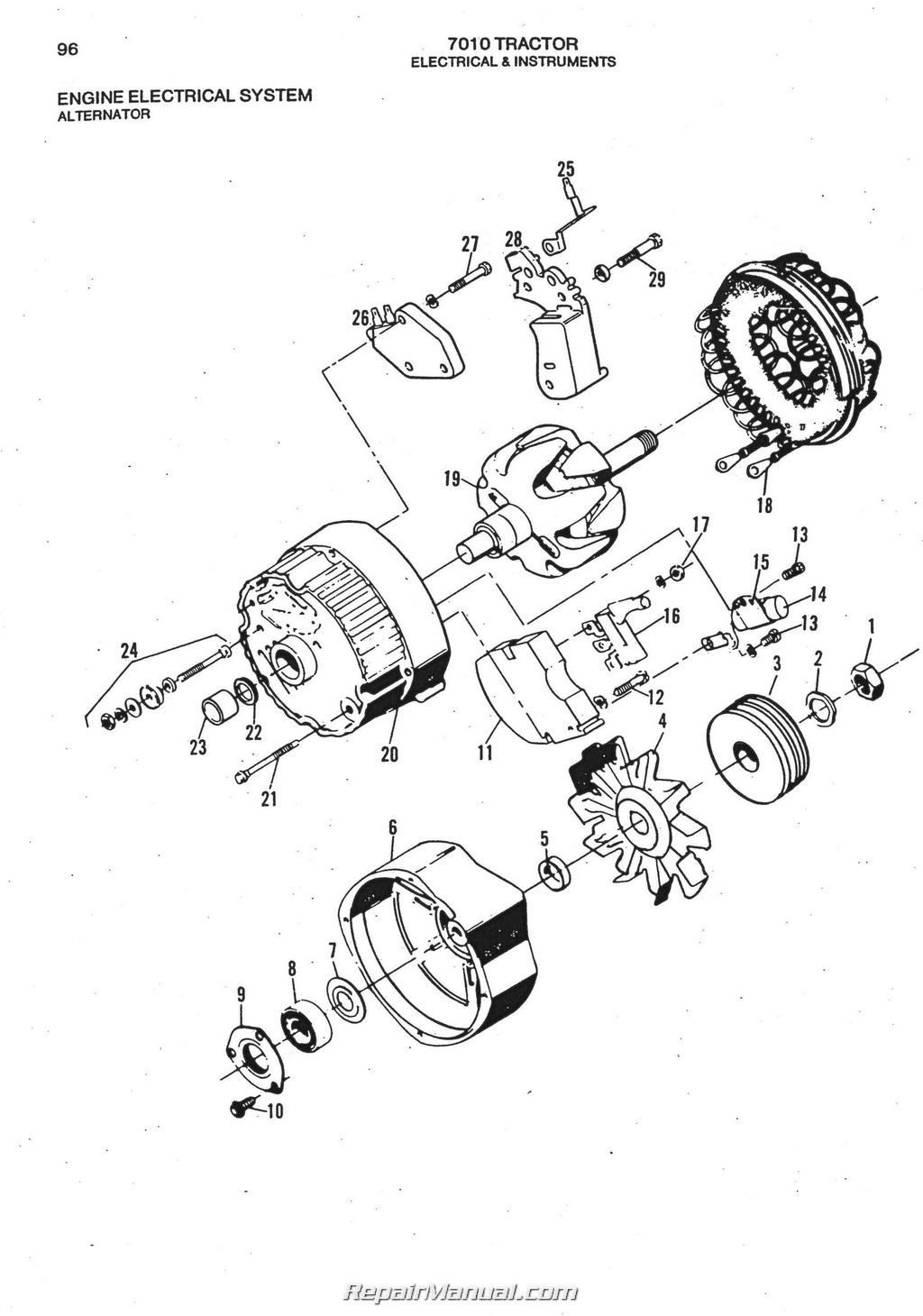 Allis Chalmers 7010 Diesel Parts Manual