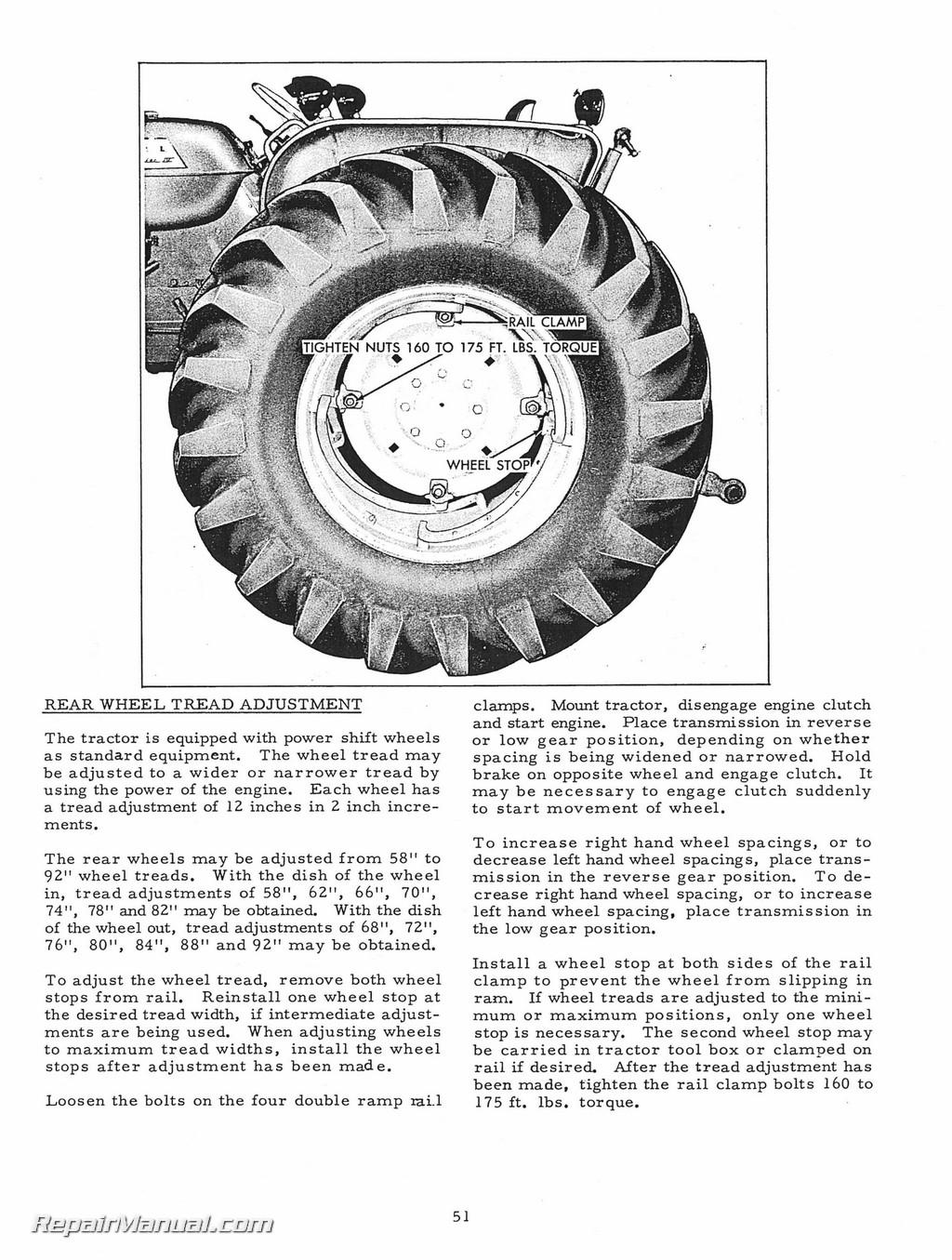 Allis Chalmers D-17 Series IV Tractor Operators Manual