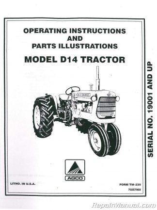 Allis Chalmers D-19 Parts Manual