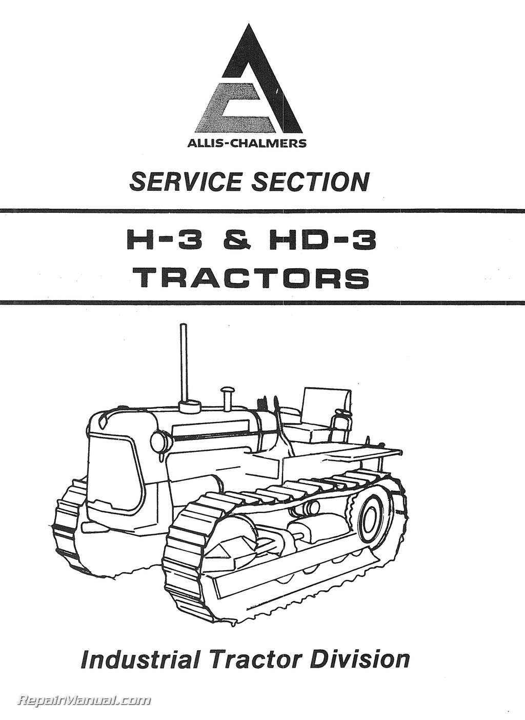 Wiring Diagram For A Golf Cart Allis Chalmers H3 Hd3 Tractor Service Manual
