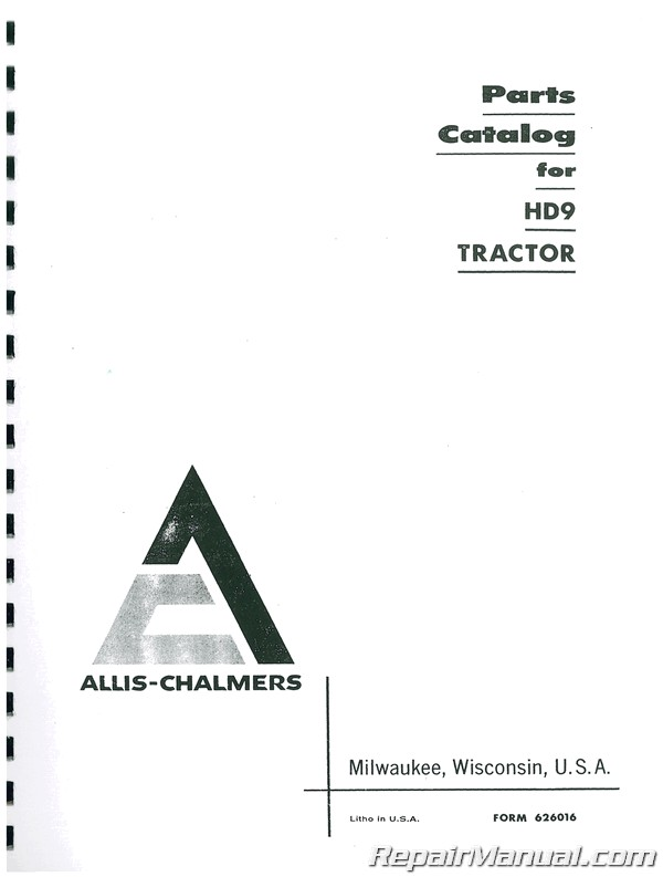 Allis Chalmers HD-9 Parts Manual