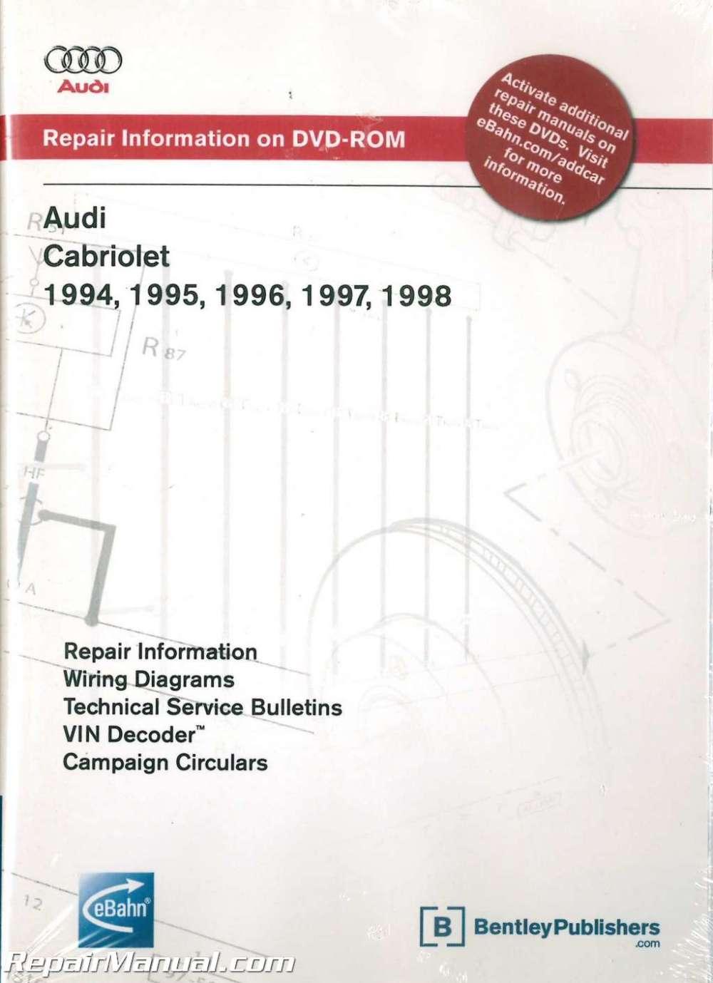 medium resolution of audi cabriolet 1994 1998 repair manual on dvd rom audi 80 cabriolet wiring diagram audi cabriolet wiring diagram
